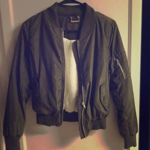 Other - JouJou Green Zip Mini Short Jacket Kids Girls XL